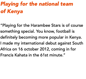 Playing for the national team 